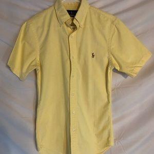 Ralph Lauren Solid Oxford Short Sleeve Woven Shirt